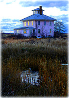 'Winter Morning at the Pink House' - Plum Island, MA