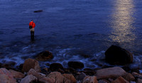 'Fisherman and Moonlight' - Narragansett, Rhode Island