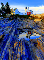 'Pemaquid Point Light Reflections' - Bristol, Maine